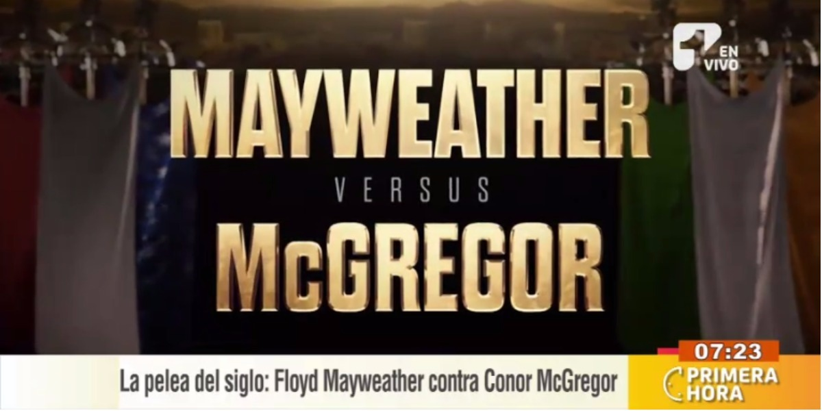 La pelea del siglo será este 26 de agosto - Foto: Captura de pantalla.