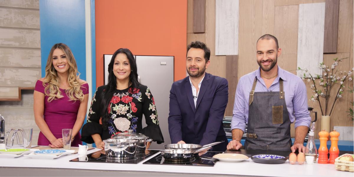 Carolina Soto, Carmen Larrazabal, Carlos Marín y Leo Morán son lo presentadores de Acá Entre Nos