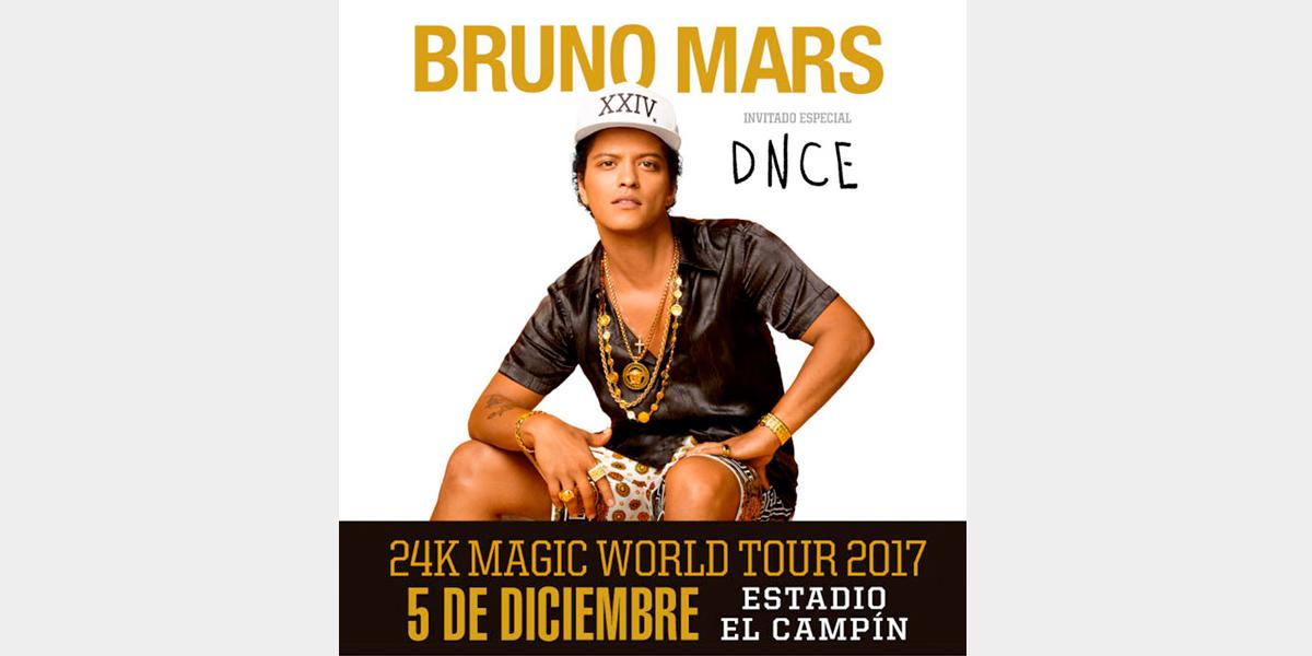 ¡Confirmado! Bruno Mars se presentará el 5 de diciembre en Colombia