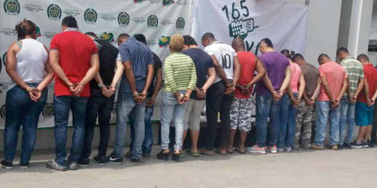 Capturan 28 integrantes del 'Clan del Golfo' en Antioquia