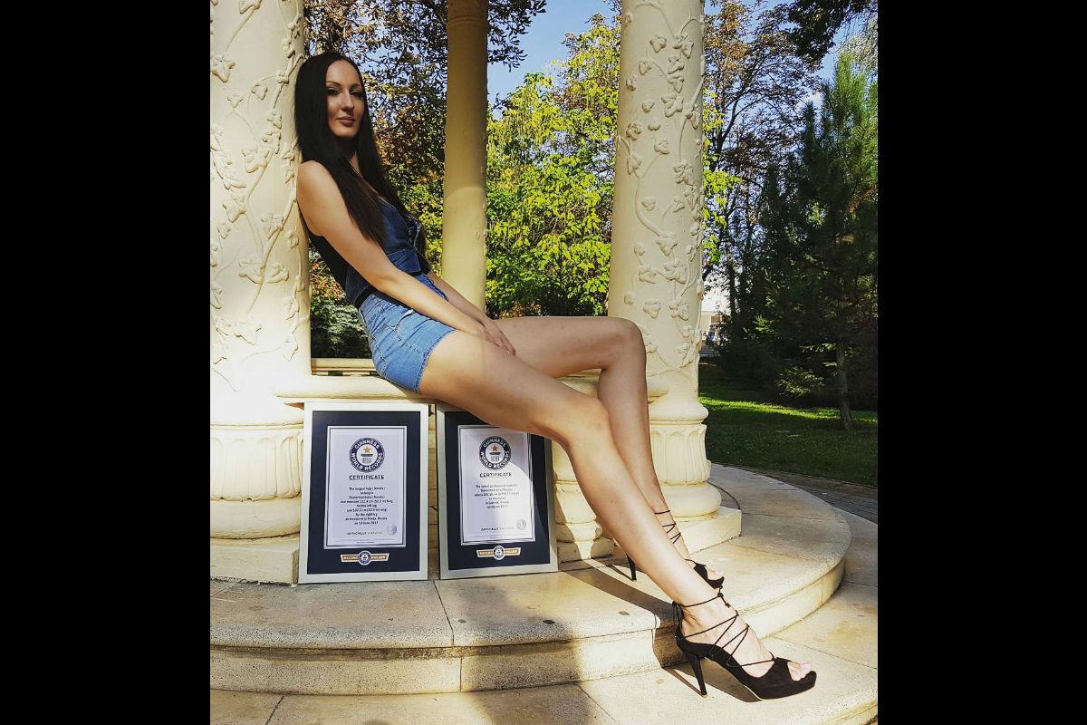 La modelo rusa que tiene las piernas más largas del mundo