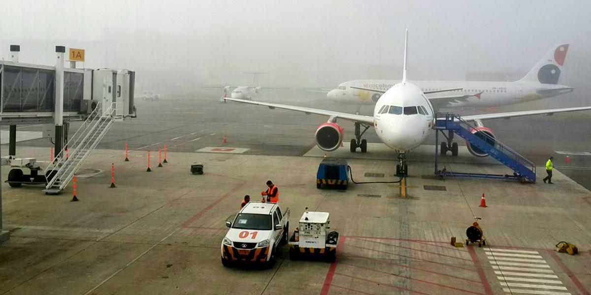 Se registran retrasos en vuelos del aeropuerto Rionegro por niebla