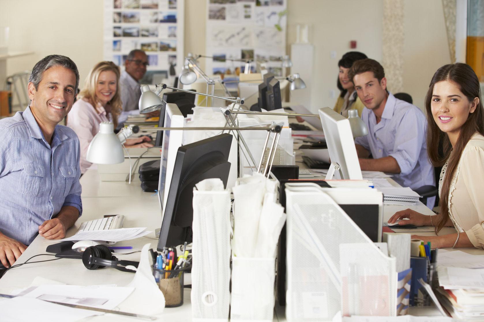 trabajar en oficina