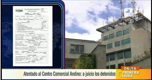 A juicio los 10 detenidos por el atentado en el centro comercial Andino