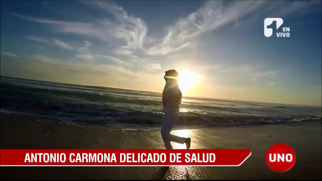 Antonio Carmona, delicado de salud