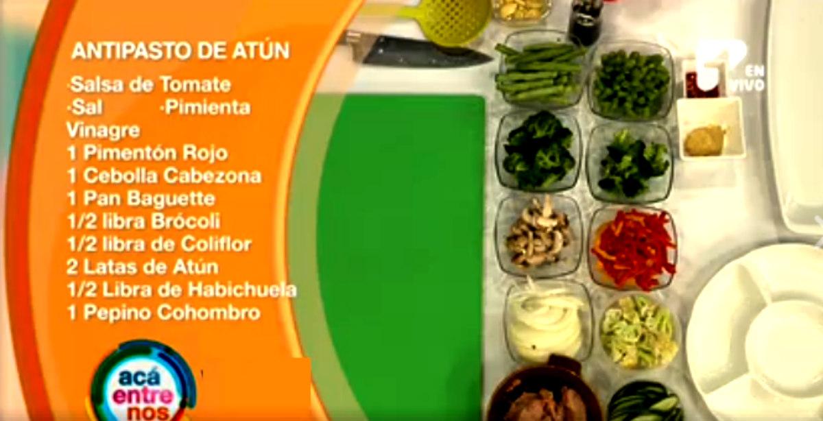 Antipasto de atún, un plato para descrestar a tus invitados