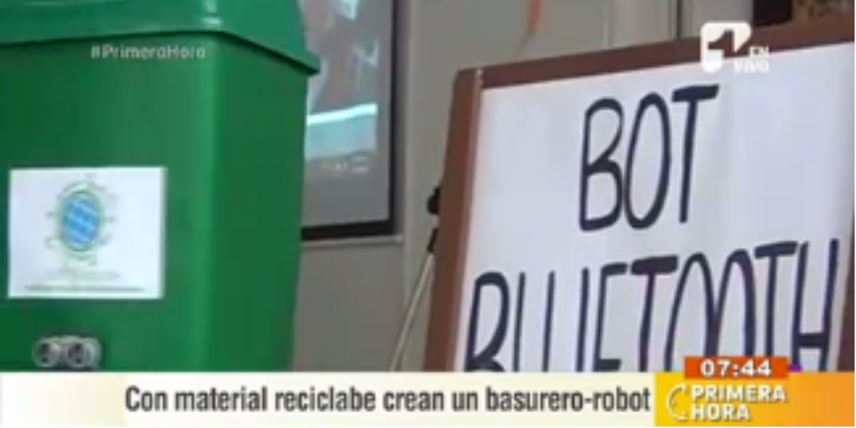 El primer basurero robot del país - Foto: captura de pantalla.