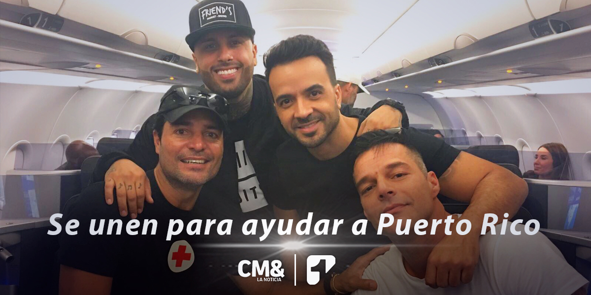 Ricky Martin, Luis Fonsi, Chayanne y Nicky Jam se unen para ayudar a Puerto Rico