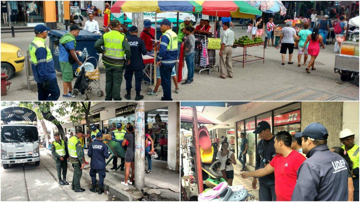 El espacio público sigue siendo invadido por vendedores en Colombia