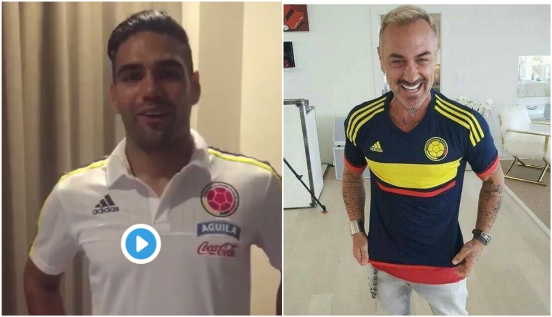 Critican a Falcao por darle la bienvenida a Gianluca Vacchi a Barranquilla