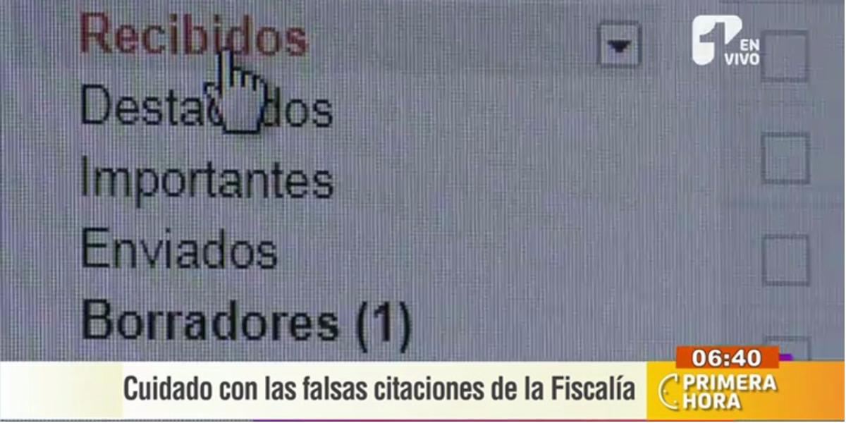 Ojo con las falsas citaciones de la Fiscalía - Foto: captura de pantalla.
