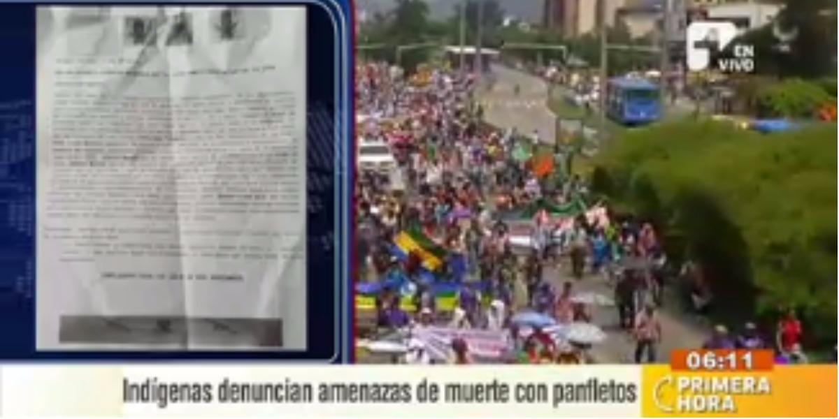 Indígenas denuncian amenazas de muerte - Foto: captura de pantalla.