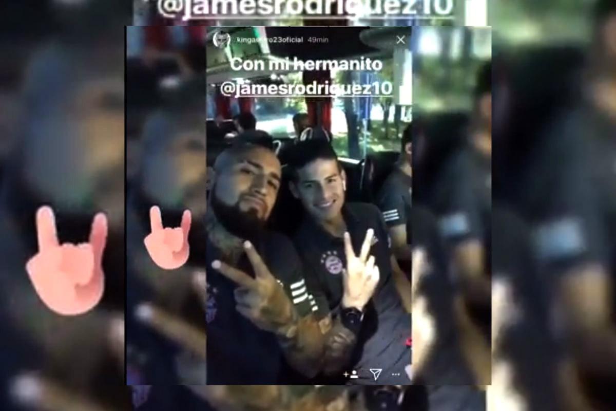 James Rodríguez y Arturo Vidal confirman su gran amistad con este vídeo