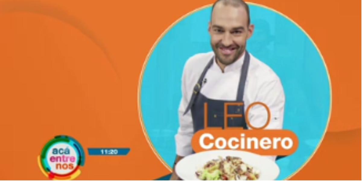 La receta de Leo en Acá Entre Nos - Foto: captura de pantalla.