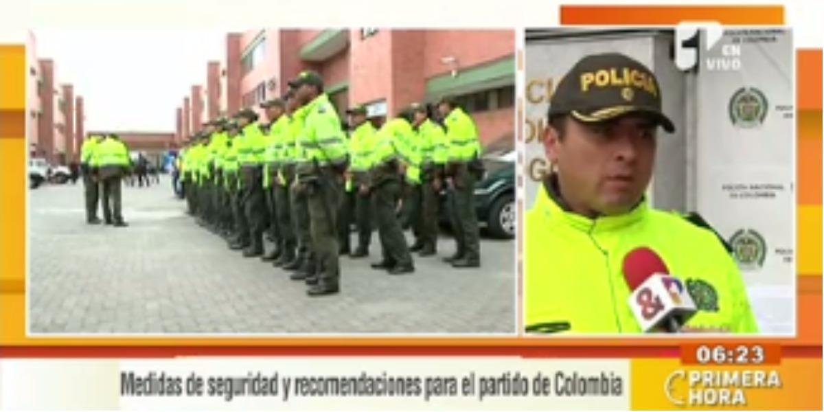 Las medidas de la Policía por el partido de hoy - Foto: captura de pantalla.