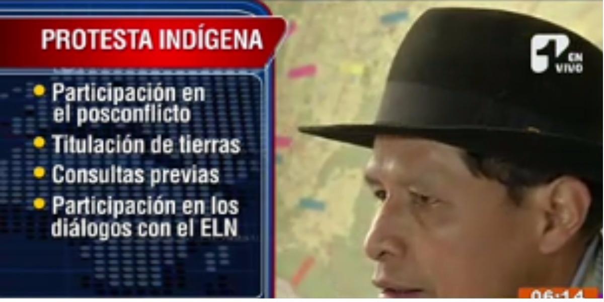 Indígenas siguen con protestas en todo el país - Foto: Captura de pantalla.