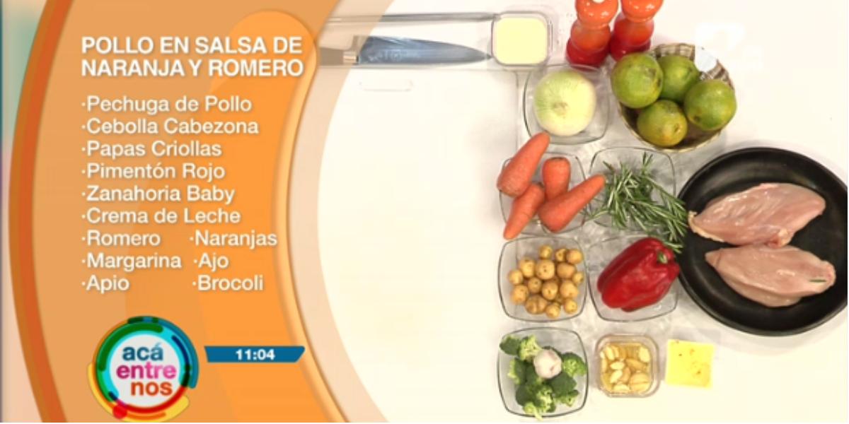 Un delicioso pollo en salsa de naranja y romero - Foto: captura de pantalla.