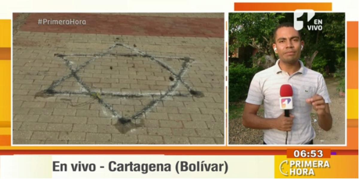 Extraños símbolos fueron encontrados en Cartagena - Foto: captura de pantalla.