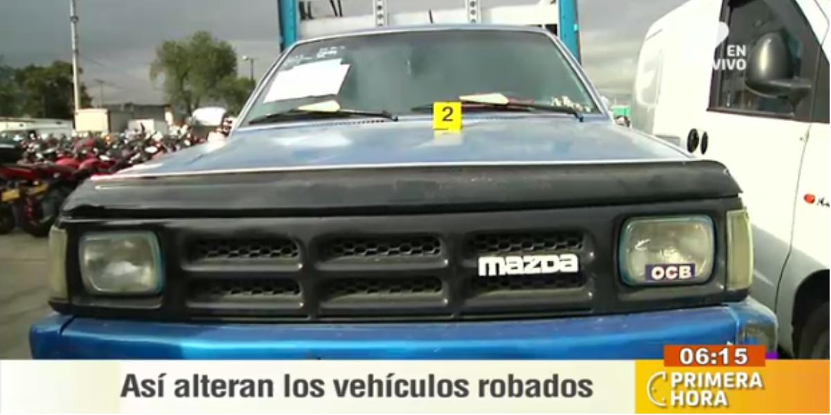 Así se roban los carros en Bogotá - Foto: captura de pantalla.