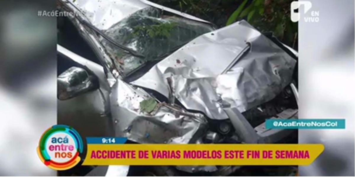 Accidente de varias modelos durante el fin de semana- Foto: captura de pantalla.
