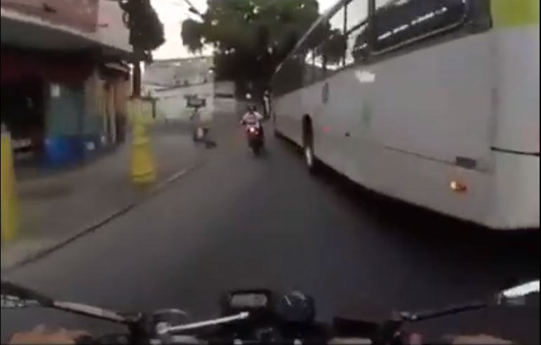 accidente en moto en Colombia