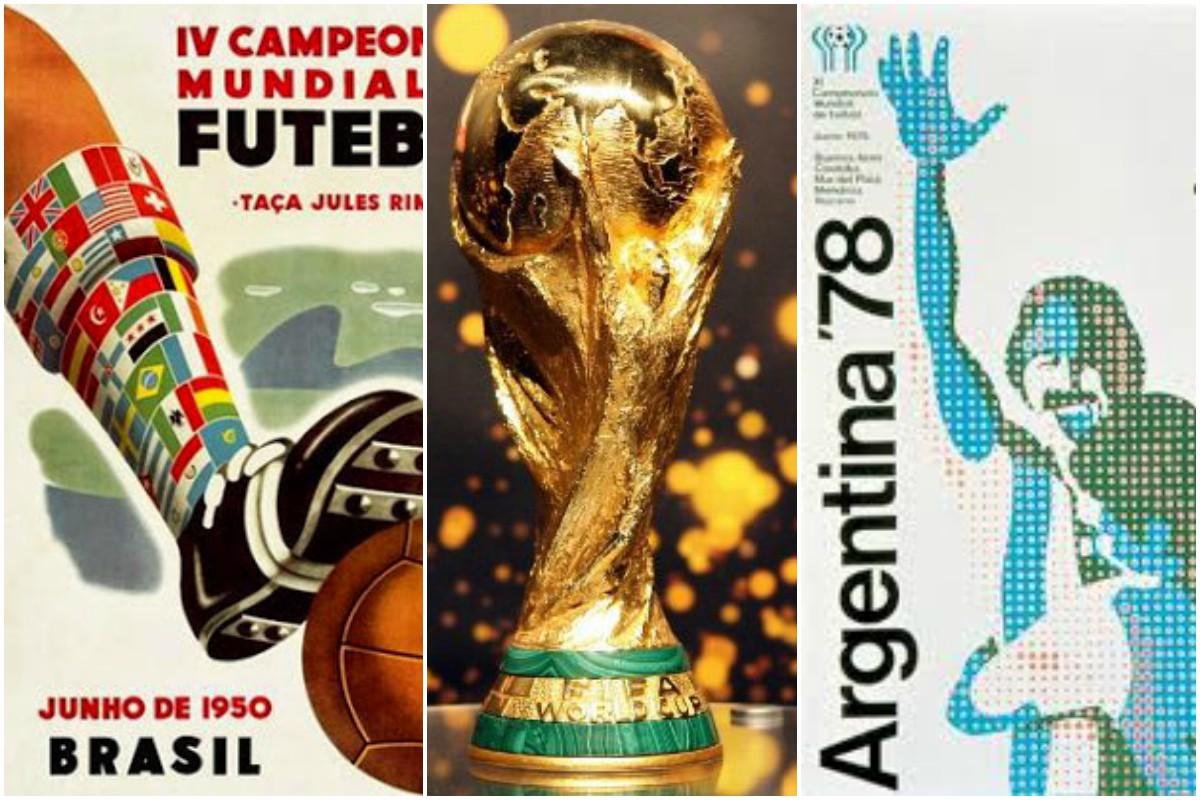 Estos son los afiches en la historia de los mundiales de fútbol