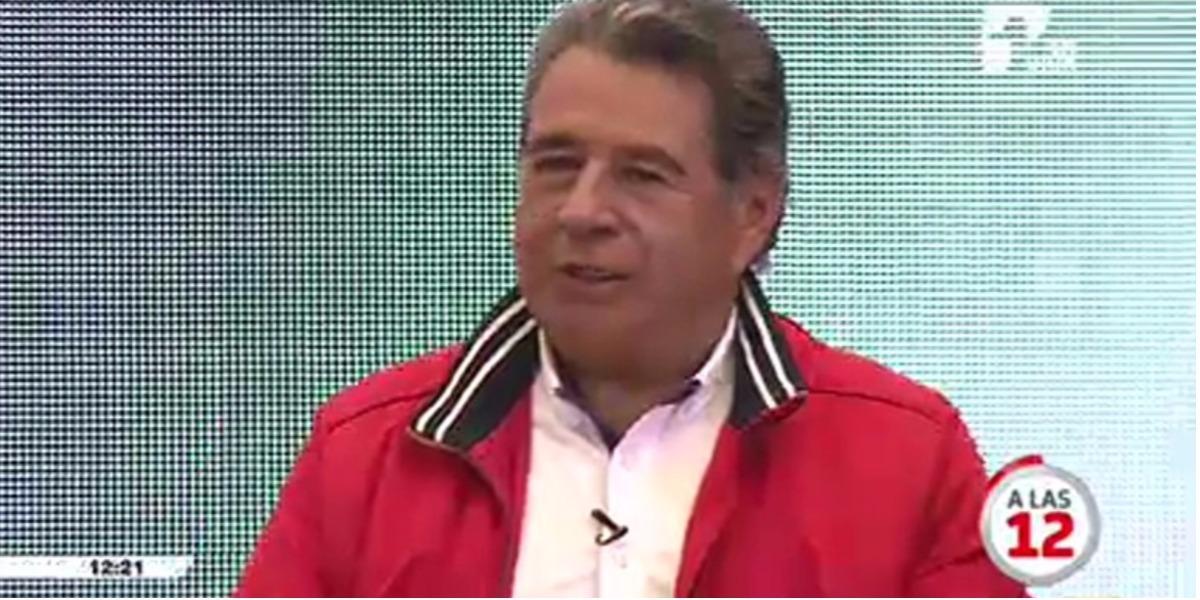 El Alcalde de Soacha en A las 12 - Foto: captura de pantalla.