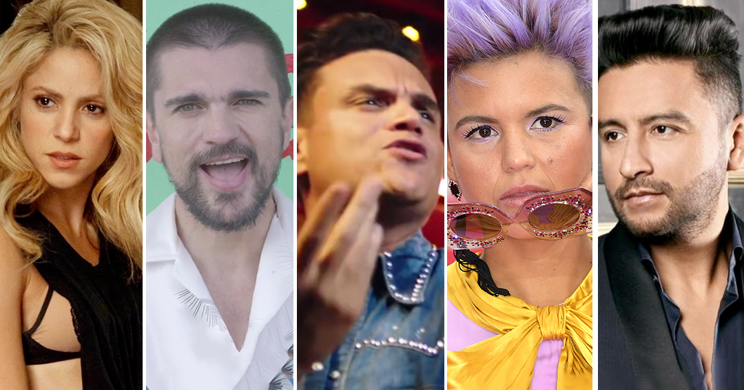 Shakira, Juanes, Silvestre Dangond, Bomba Estéreo y Alex Campos, nominados al Grammy 2018