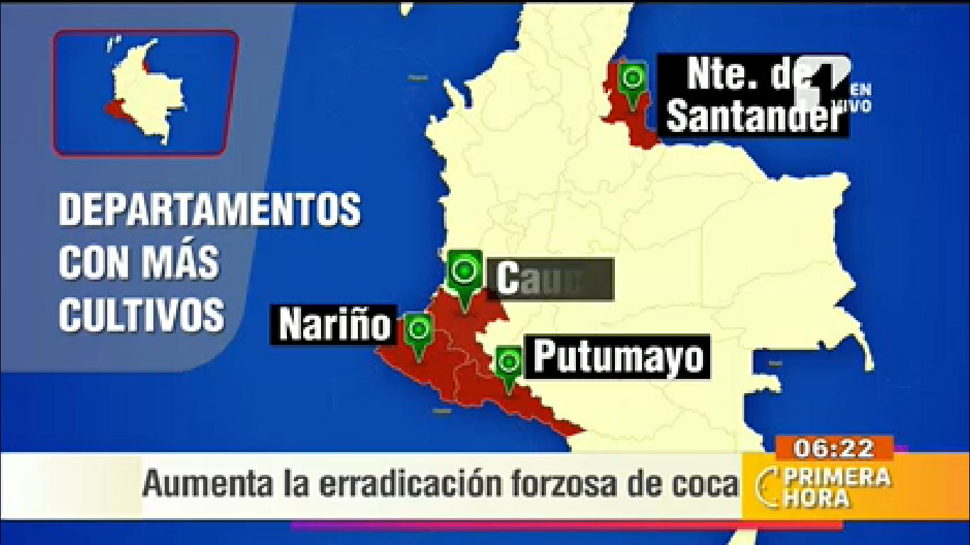 La erradicación de la coca sigue por buen camino