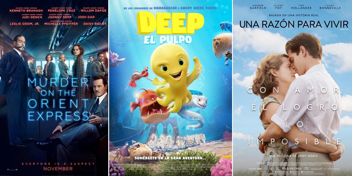 Estrenos cinematográficos recomendados para el fin de semana
