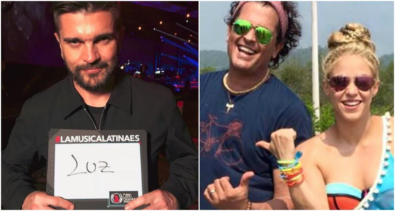 Juanes y Carlos Vives se solidarizan con Shakira enviándole estos mensajes
