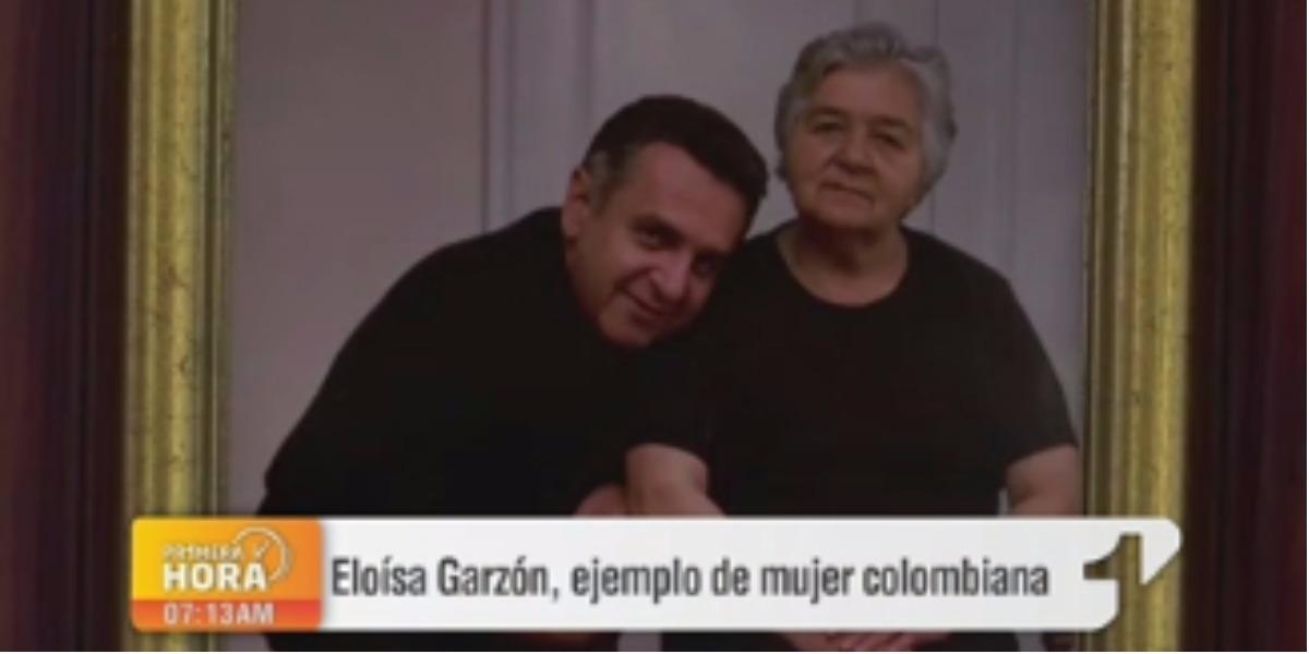 Un homenaje a la mamá de Lucho Garzón - Foto: captura de pantalla.