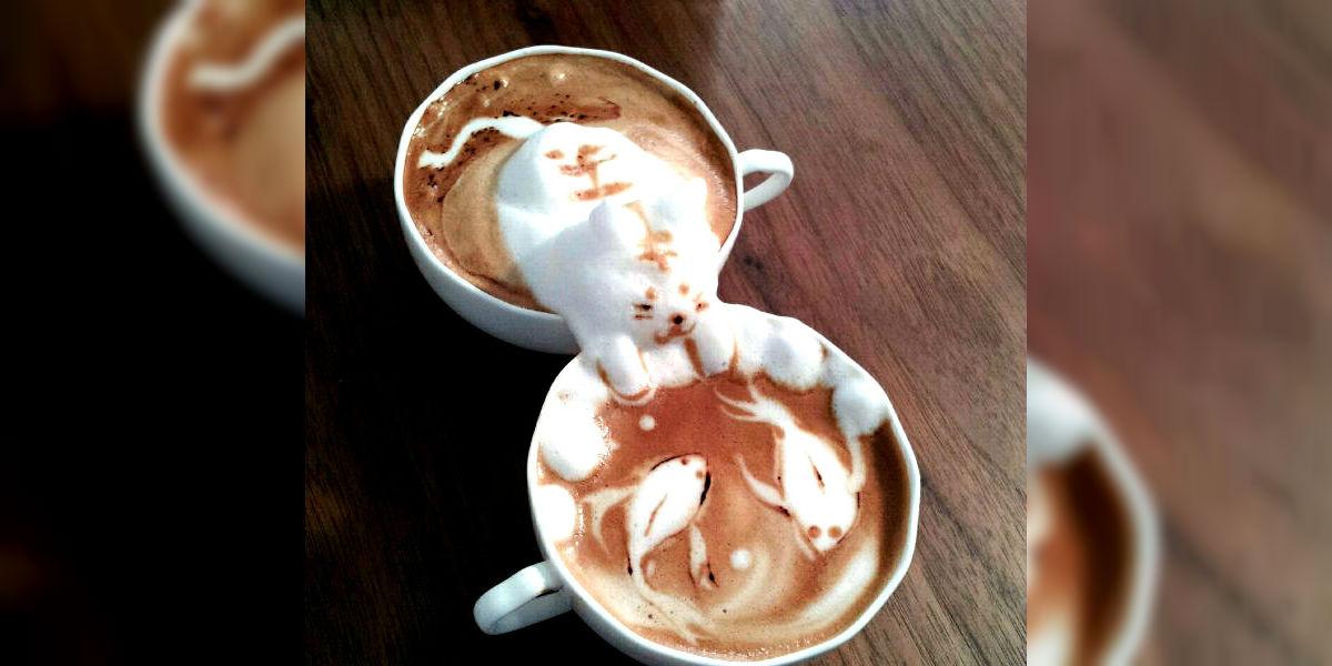 Retratar mascotas en tu café, la nueva tendencia que se impone en Taiwán