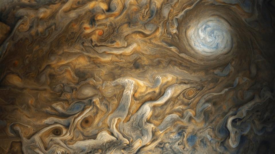 Las impresionantes imágenes de Júpiter captadas por una cámara de la Nasa
