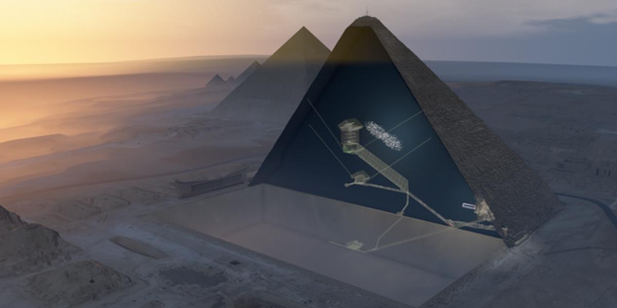 Descubren una gran cámara en la Pirámide de Keops
