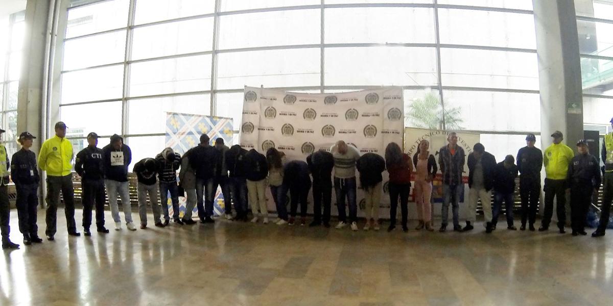 Capturan a 23 personas en allanamientos a ollas de microtráfico en Armenia, Quindío