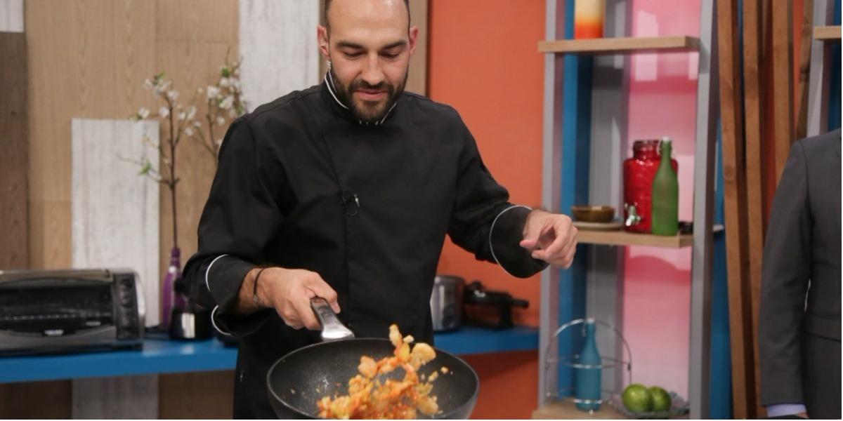 Unos deliciosos camarones salteados en la receta de Leo - Foto: Laura Vallejo.