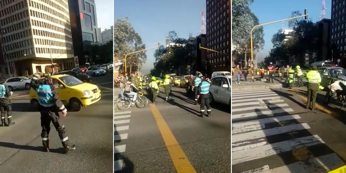 Una persona falleció en un accidente de tránsito sobre la carrera Séptima