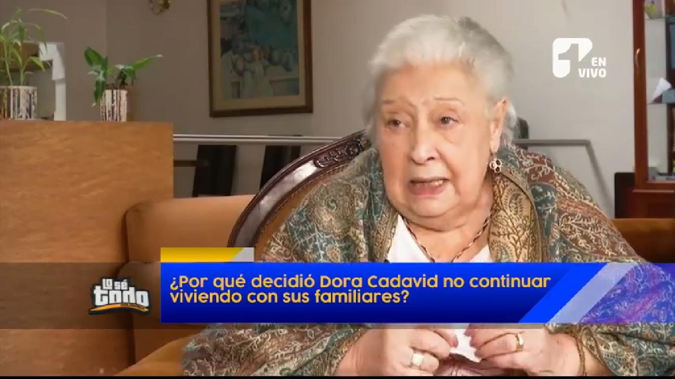 """La actriz Dora Cadavid le contó a """"Lo se todo"""" por qué se fue a vivir a un ancianato"""