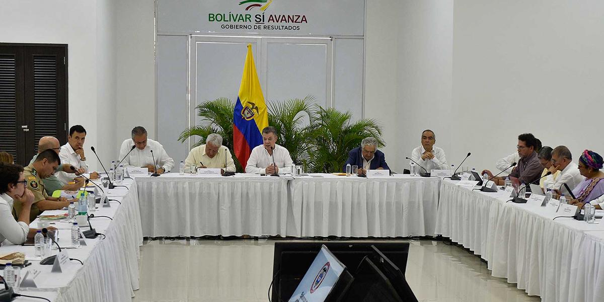Avanza reunión entre Gobierno y Farc en Turbaco sobre acuerdos de paz