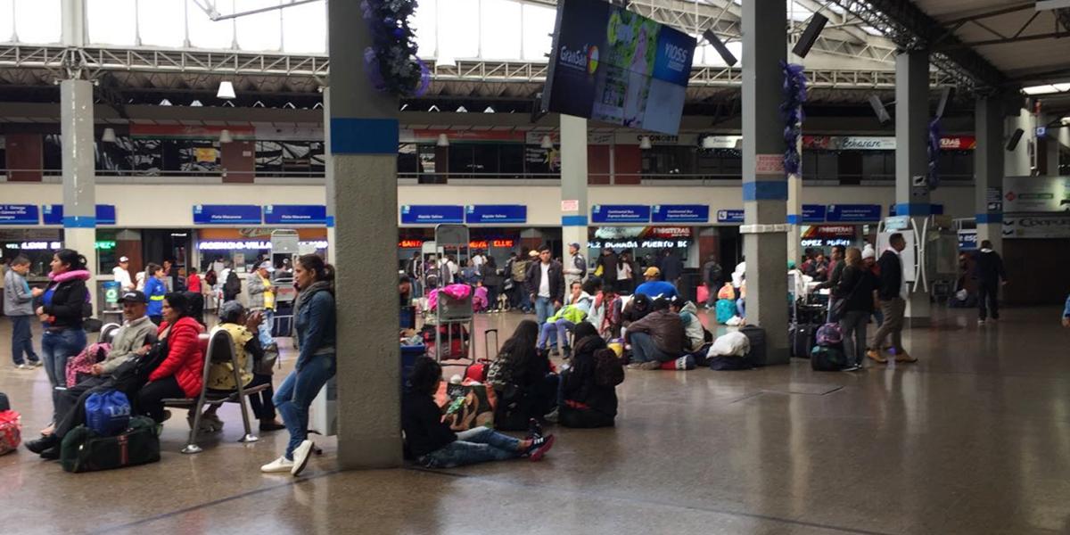 En puente de Reyes, Terminal de Transportes de Bogotá movilizará 212 mil pasajeros