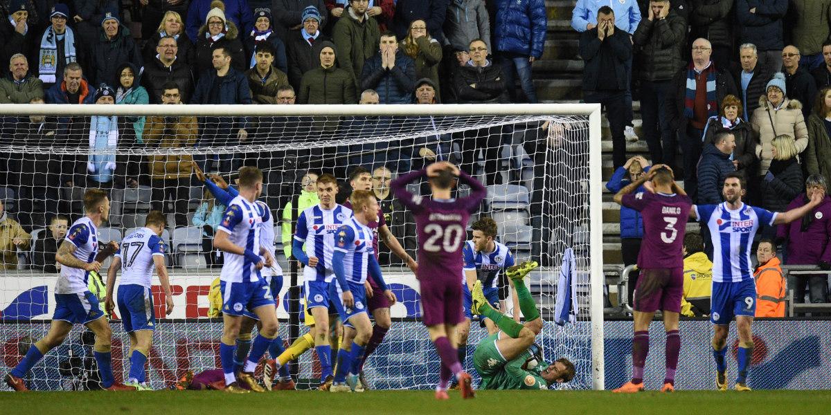 Wigan elimina al poderoso Manchester City de la FA Cup