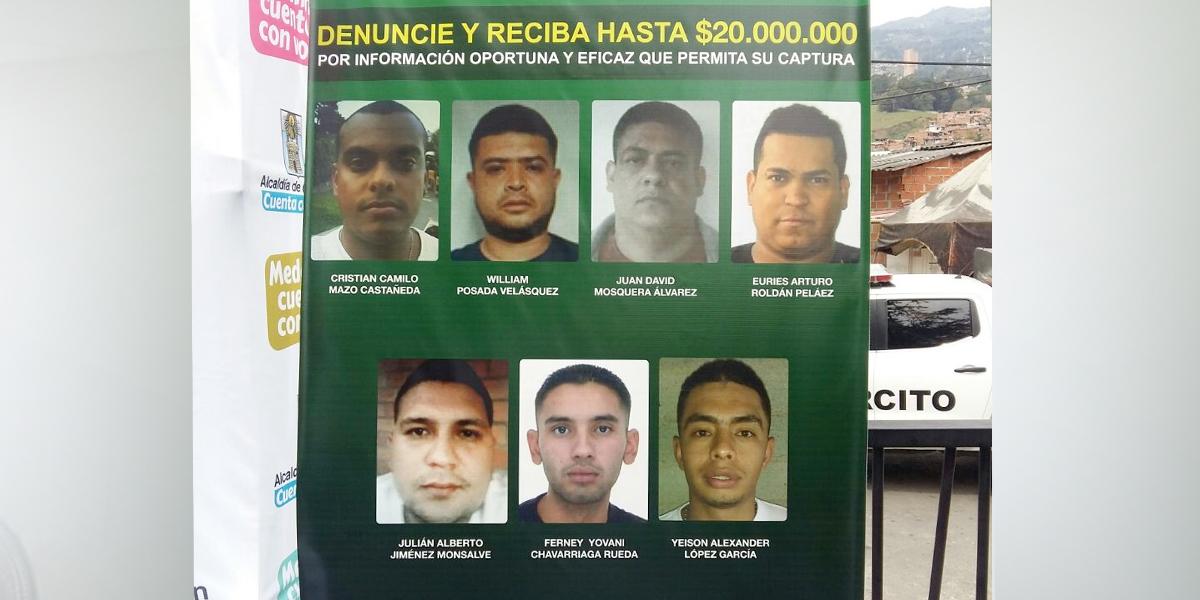 $10 millones de recompensa por asesinos de cinco personas en Medellín