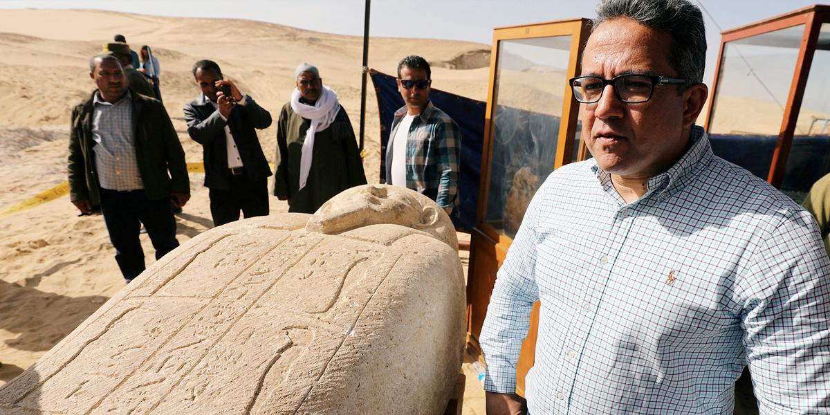Hallan gigantesco cementerio milenario en Egipto