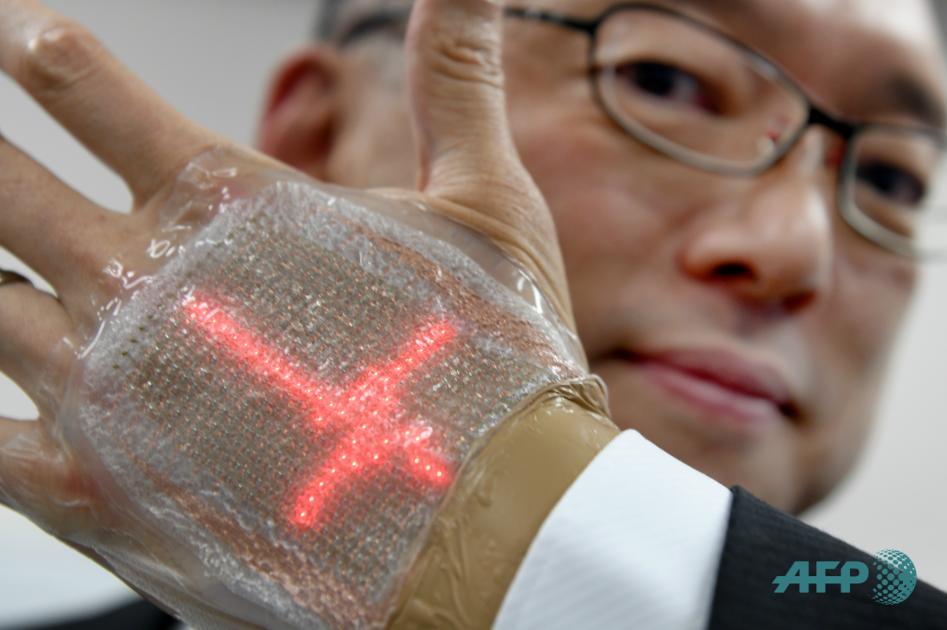 Un japonés inventa una pantalla LED comparable a una segunda piel