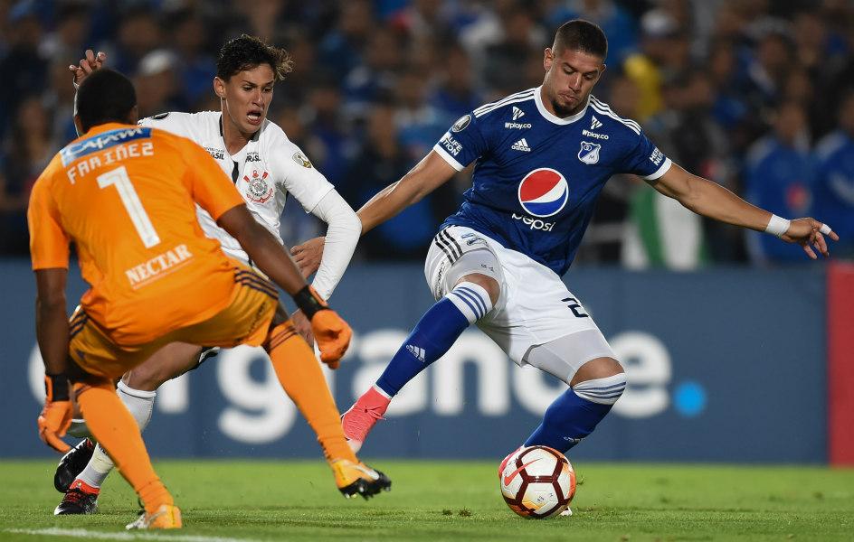 Millonarios empata con Corinthians en su estreno en Copa Libertadores