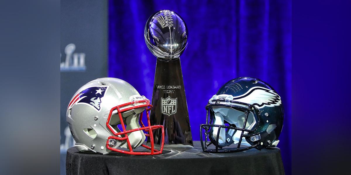 Patriotas de Nueva Inglaterra y Águilas de Filadelfia por el Super Bowl 52