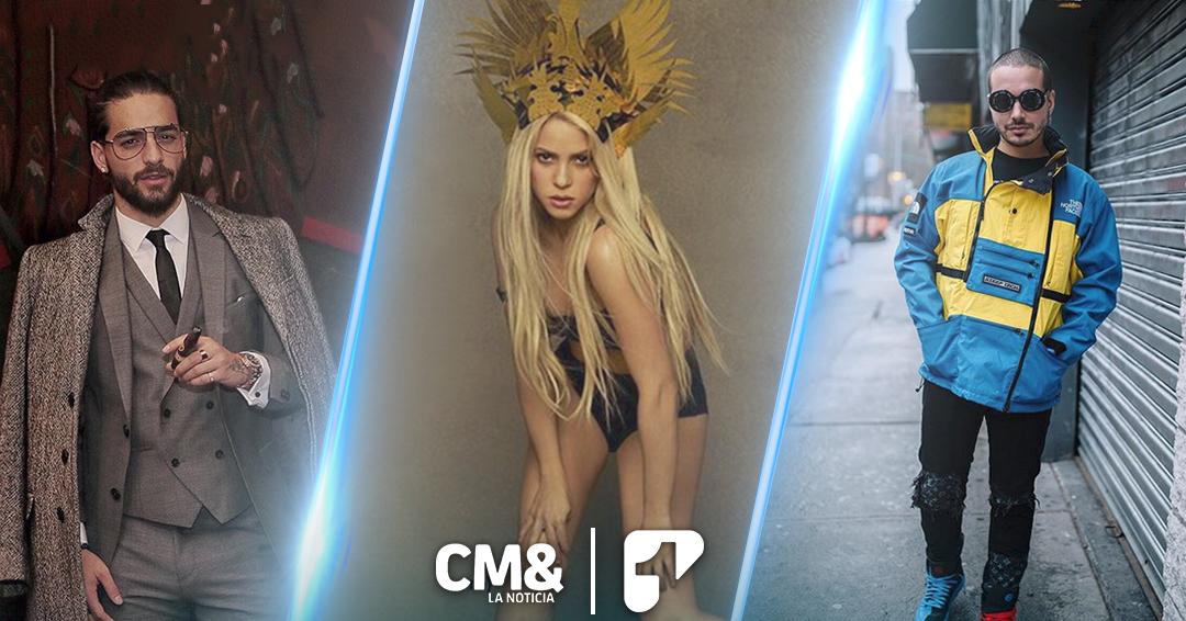 Shakira, J Balvin y Maluma, los más nominados a los Billboard Latinos 2018