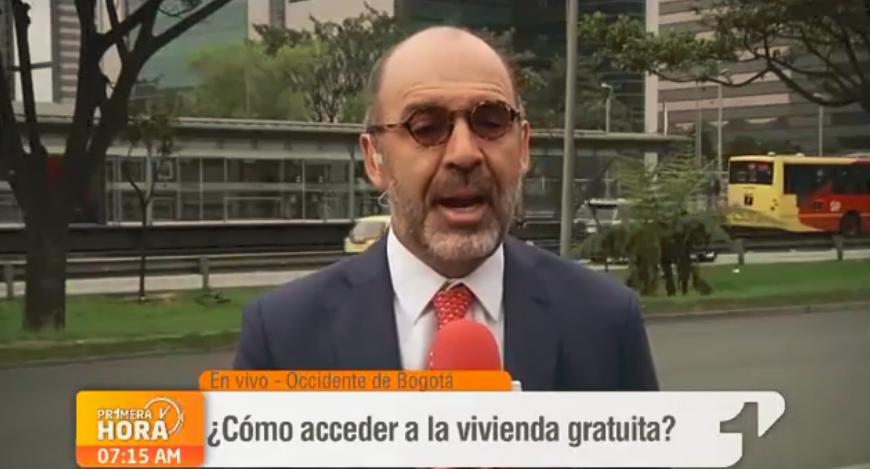 """Ministro de Vivienda Camilo Sánchez en """"Primera Hora"""" / FOTO: Screenshot emisión """"Primera Hora"""""""