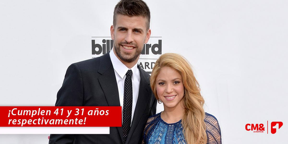 Shakira y Piqué, con diez años de diferencia, celebran sus cumpleaños